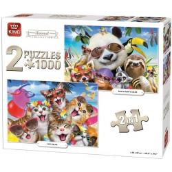 Puzzle Állati party