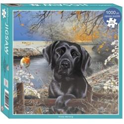 Puzzle Fekete labrador