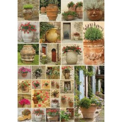 Puzzle Virágcserepek