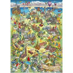 Puzzle Németország rajzolt térképe