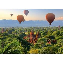 Puzzle Léggömbök Mianmar felett