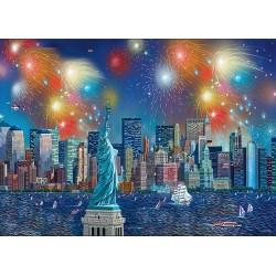 Puzzle Tűzijáték a Szabadság-szobor felett