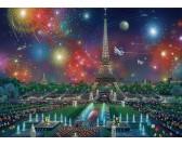 Puzzle Tűzijáték Párizs felett