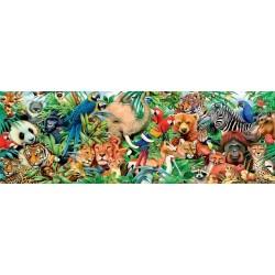 Puzzle Az állatok világa - PANORAMATIKUS PUZZLE