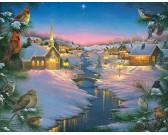 Puzzle Csendes éjjszaka télen - XXL