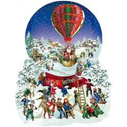 Puzzle Karácsonyi léggömb