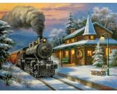 Puzzle Karácsonyi vonat - XXL