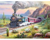Puzzle Vonat a sivatagban - XXL PUZZLE