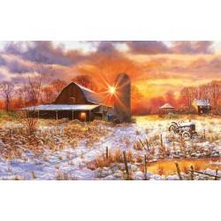 Puzzle Hóval borított farm