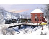 Puzzle Vasútállomás télen