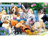 Puzzle Kutyák a kertben