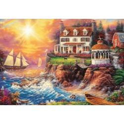 Puzzle Ház a sziklafalon