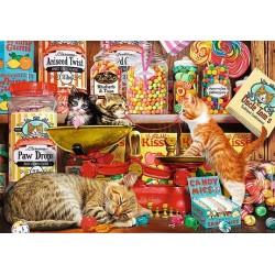 Puzzle Kíváncsi macskák