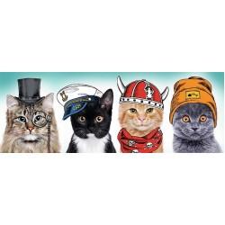 Puzzle Négy macska - PANORAMATIKUS PUZZLE