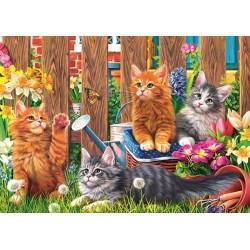 Puzzle Kiscicák a kertben