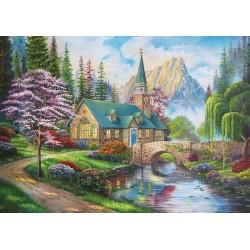 Puzzle Templom a  hegyek lábánál
