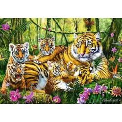 Puzzle Tigriscsalád
